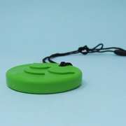 ARK's Green Smiley Face Chew Necklace