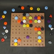 This wooden game is specially made for the blind who love to play educational games which develops the brain
