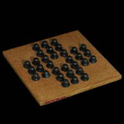 Wooden Braille Brainvita Game is revolves primarily along moving the position of pegs according to the rules of the game.