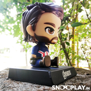 Buy Captain America Beard End Game Bobble head action figure Car Decoration & Phone Stand