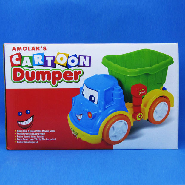 Cartoon Dumper (Press the lever to Tilt the Cargo Bed)