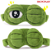 3D PLush Frog sleep Eye cover Mask