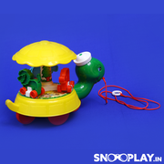 Buy pull along turtle toy with spinning top for kids - Snooplay.in