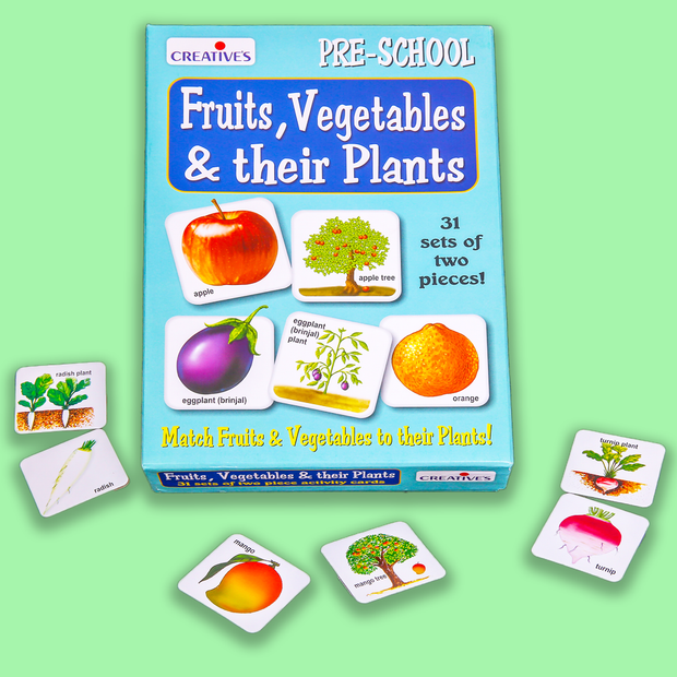Fruits, Vegetables and their Plants Jigsaw Puzzle