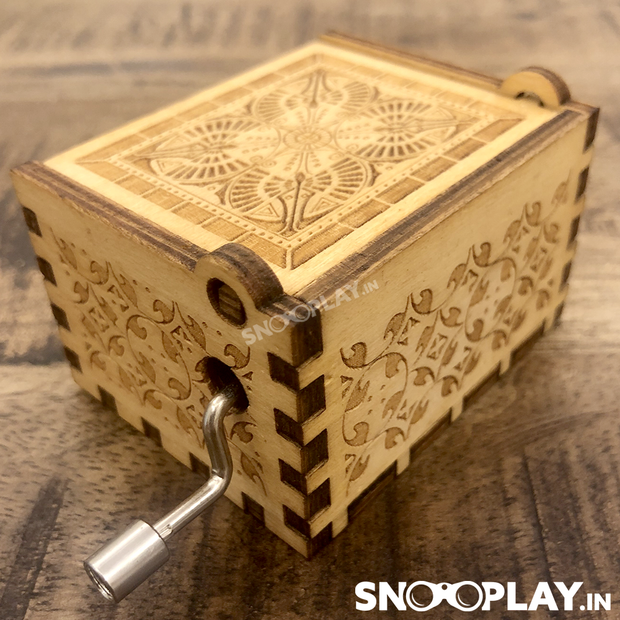 Happy Birthday Theme Hand Engraved Wooden Music Box