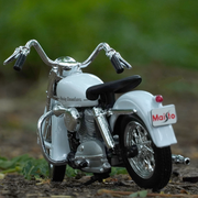 Buy Harley Davidson 1952 K Model 1:18 Scale Die Cast Bike Model (White) Online India Miniature Collectible Bike Back Side