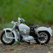 Buy Harley Davidson 1952 K Model 1:18 Scale Die Cast Bike Model (White) Online India Miniature Collectible Bike Left