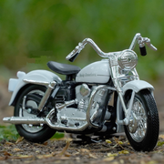 Buy Harley Davidson 1952 K Model 1:18 Scale Diecast Bike Model (White) Online India Miniature Collectible Bike Right Side