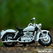Buy Harley Davidson 1952 K Model 1:18 Scale Die Cast Bike Model (White) Online India Miniature Collectible Bike Right Side 2
