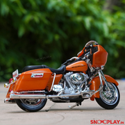 Buy Harley Davidson 2002 FLTR Road Glide 1:18 Scale Die Cast Bike Model (Orange) Collectible Bike Miniature Right