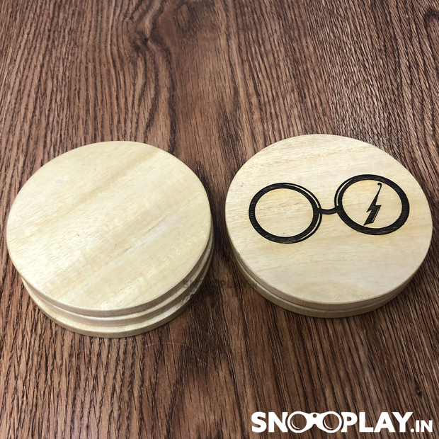 Buy Harry Potter Wooden Engraved Coasters (Set Of 6 With Stand) Mugs Tea Pot Coasters Plate Board Salver cup coasters