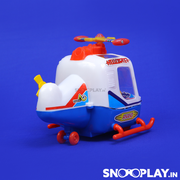 Buy friction powered anand helicopter with pilot for kid - Snooplay.in