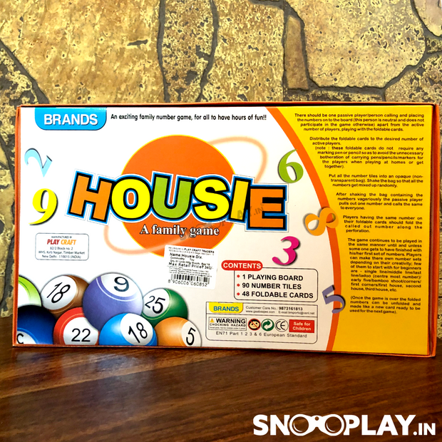 Buy Housie (Tambola) Game By Brands family game online India best price