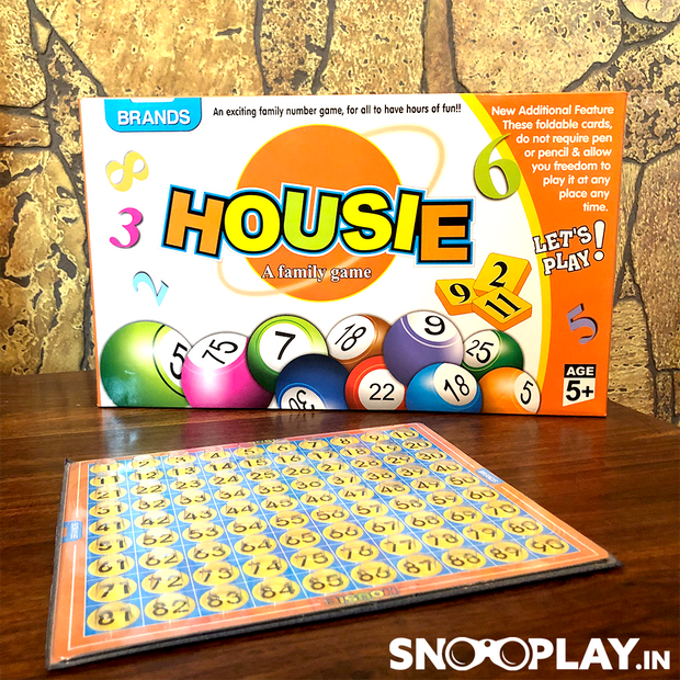 Housie (Tambola) Game By Brands (With Foldable & Reusable Tickets)