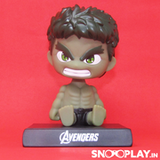 Front view of Hulk Bobble Head action figure for all the Marvel fans.
