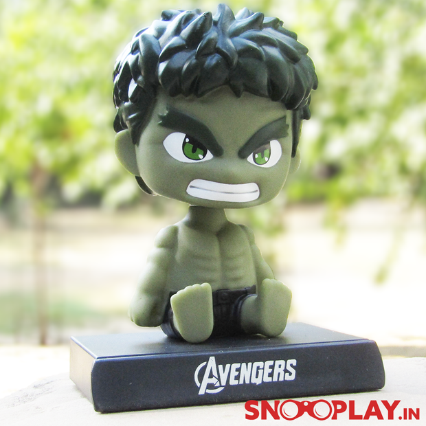 Hulk Bobble Head action figure, for all the Avenger and Marvel fans, is perfectly  suitable for office, desk or car decor.
