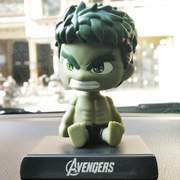 Hulk Bobble Head Action Figure placed on the dashboard. It looks perfect for car or office decor.