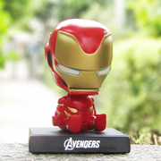 Iron Man Bobble Head Action Figure Car Decoration