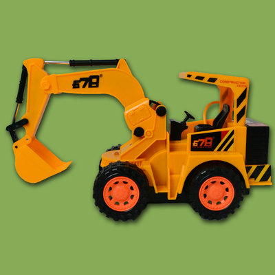 Buy pull back crane Earth Mover jcb truck toy kids - Snooplay.in