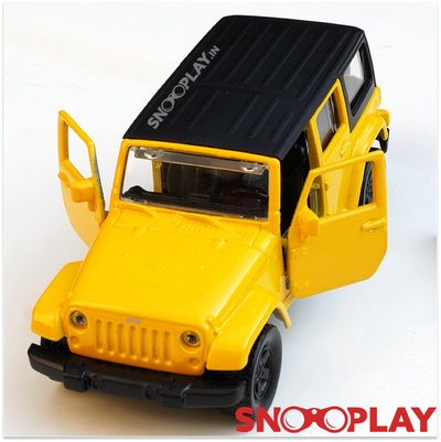 Jeep Wrangler Rubicon Die Cast Pull Back Car Model