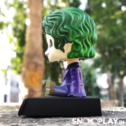 Joker bobblehead cum action figure, for all the joker fans, with a detachable base and a secret tray which doubles up as a mobile holder.