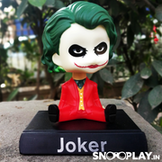 Joker bobblehead cum action figure of height 2.5 inches approx.