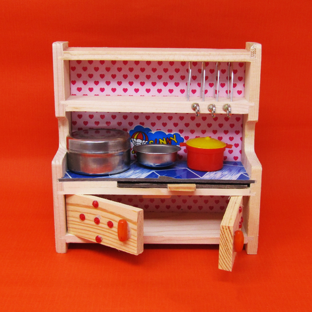 Pure Veg Kitchen Set (Big) with Stainless Steel Utensils For Kids
