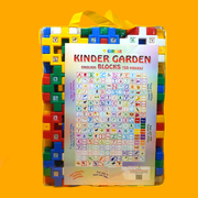 These multi-colored kindergarten blocks teach your kid the basics of the language in a playful way
