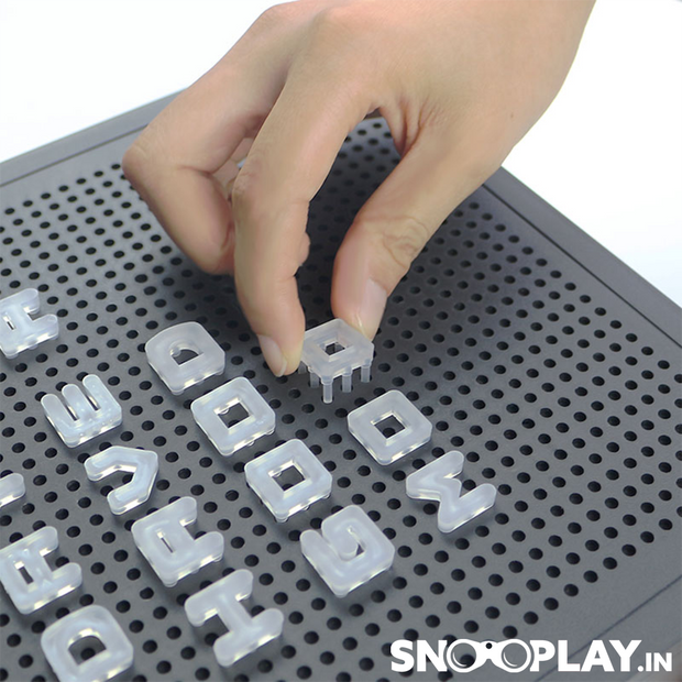 LED Message Peg Board (with Alphabets & Light)
