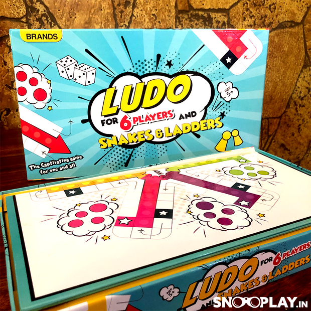 Buy Lodu Game For 6 People With Snakes & Ladders Family Night Party time Games Online India