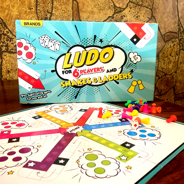 Ludo Game For 6 People With Snakes & Ladders