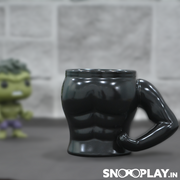 Black Muscle Coffee Mug