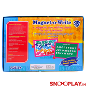 Black and White Board with Magnetic Alphabets (Magnet-O-Write)