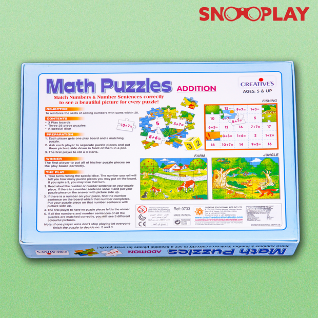 Maths Jigsaw Puzzle (Learn Addition)
