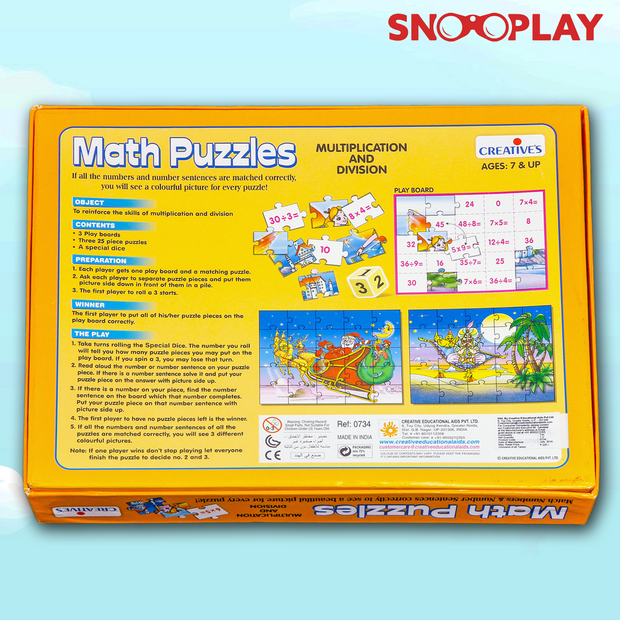 Maths Jigsaw Puzzle (Learn Multiplication and Division)