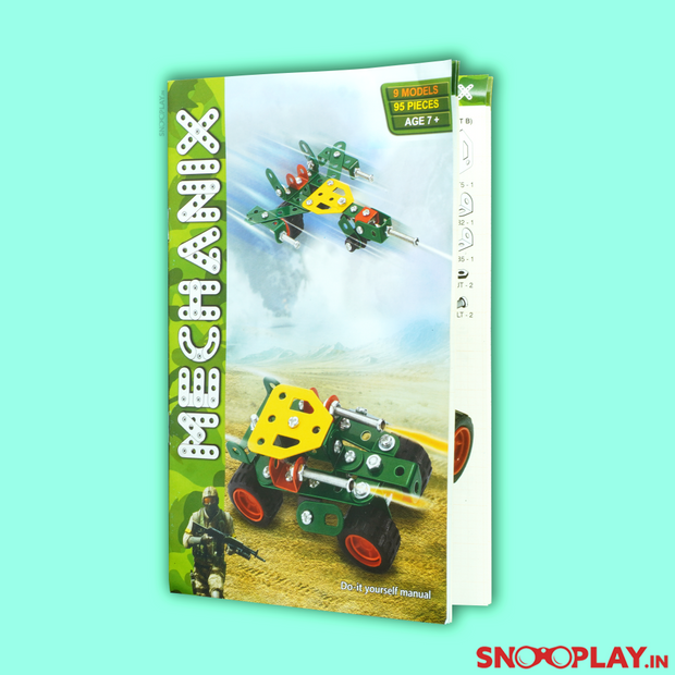 This Mechanix builder set which improves their problem solving skills, creativity and motor skills. Gift this fun builder game to your kid.