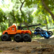 Quarry Monster Metal Crane Construction Diecast Truck (With Moving Parts)