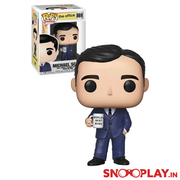 "The Office TV Show ""Michael Scott"" Action Figure - Funko Pop (World's Best Boss)"