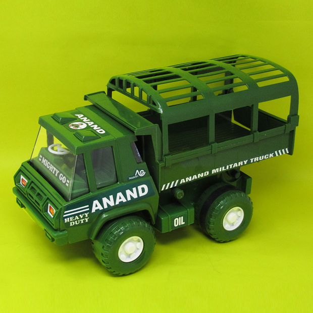 Army Toy Truck (With Moving Carrier Top)