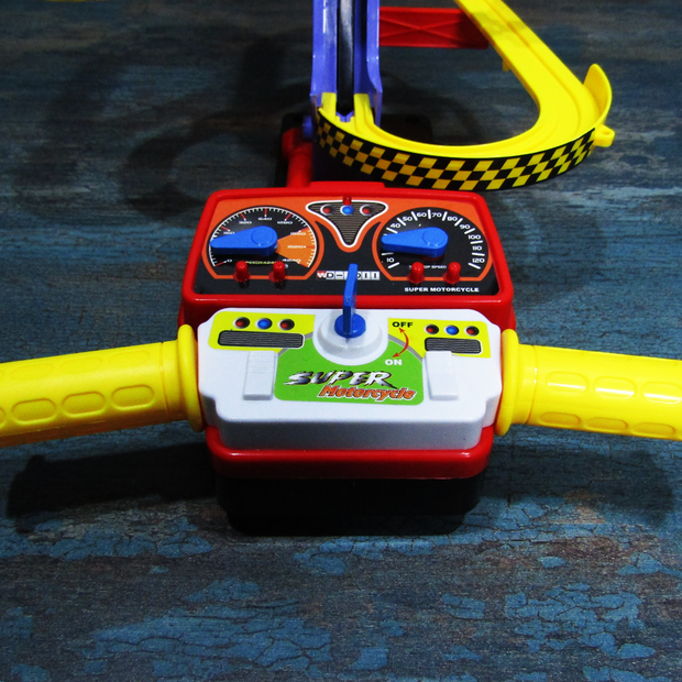 Nuttiness Motorcycle Race Set (with Racing Track) For Kids