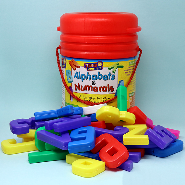 Alphabets and Numerals Bucket (Learn Alphabets and Numbers)