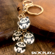 Buy Panda Puppy With Golden Chain Metal Keychain Keyring India at Low Price @ Snooplay