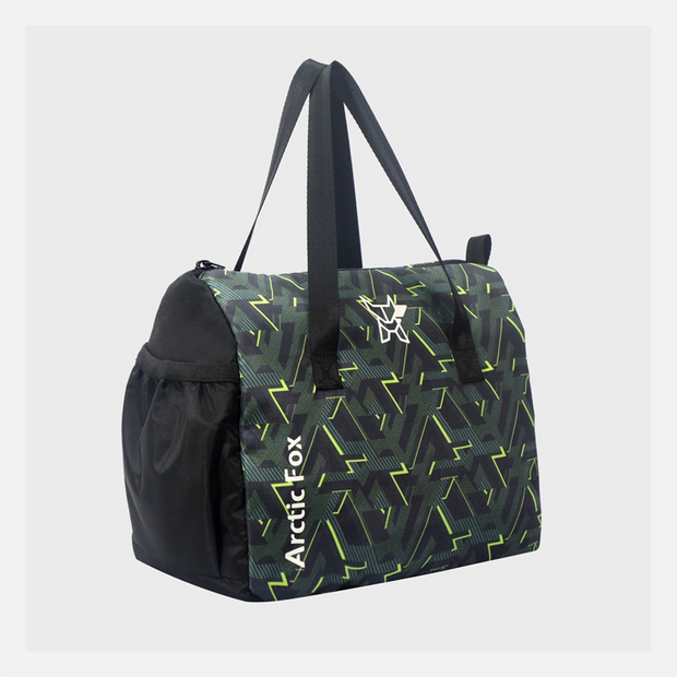 Arctic Fox - Little Dude Lines Black Green Lunch Bag