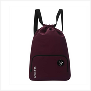 Arctic Fox - Drawstring Backpack Dark Red
