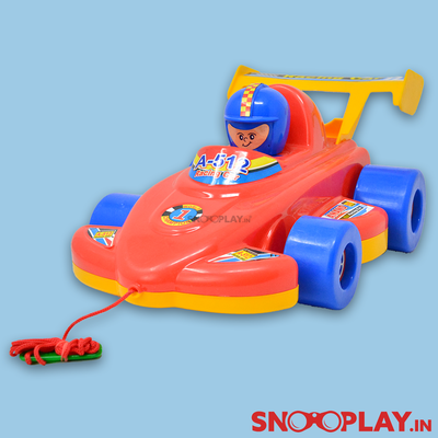 Buy pull along pulling racing car toy with sound for kids- Snooplay.in