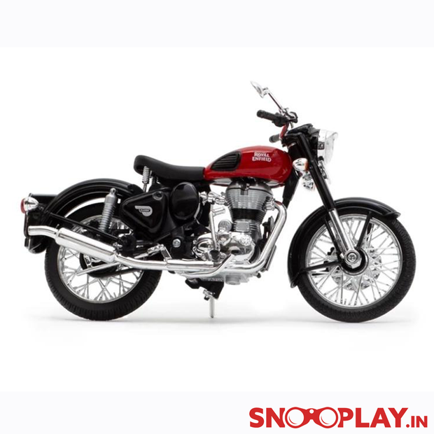 Royal Enfield Classic 350 Die Cast Bike Model (Red)