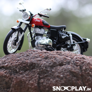 Royal Enfield Classic 350 Diecast Bike Model (Red) 1:12 Scale | Cash-on-Delivery not available on this product