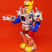 Fire Bolt Hero - Moving and Rotating Robot Toy with Sound and Light For Kids