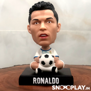 Ronaldo Bobble Head Action Figure Car Decoration Mobile Stand