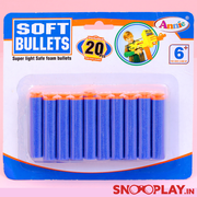 Soft Bullets 20 pieces for action gun toy for kids :-Snooplay.in